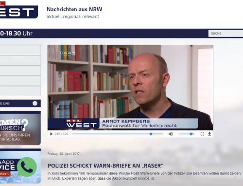28.4.17: Polizei Köln verschickt Warnbriefe an vermeintlich Raser