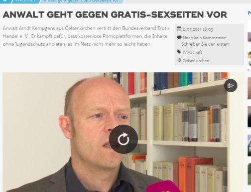 Sat.1 NRW 11.7.2017: Erotik-Verband fordert Jugendschutz
