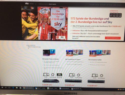 24.8.: Musterbrief bei Ärger mit Sky. Sonderkündigung wegen weniger Bundesliga?