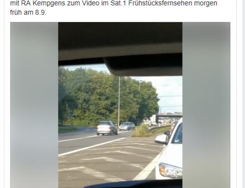 8.9. RA Kempgens bei Sat.1 Frühstücksfernsehen: A1-Wende-Video bewegt die Gemüter