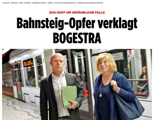 BILD 6.9.: Bahnsteigopfer verklagt BOGESTRA