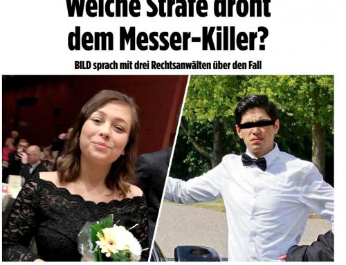29.12.17: RA Kempgens im BILD. Welche Strafe droht dem Messer-Killer? BILD sprach mit drei Rechtsanwälten über den Fall