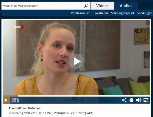 WDR Servicezeit 29.1.18: Ärger mit Gutscheinen. Wie Sie sich wehren können sehen Sie im TV-Beitrag mit RA Kempgens