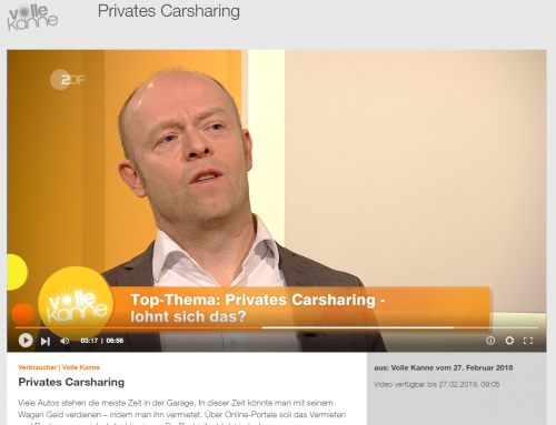 ZDF 27.2.: Hier geht es zur ZDF Mediathek mit RA Kempgens live im Studio. Thema: Car-Sharing..