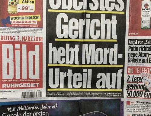 BILD Titelstory 2.3.: BGH hebt Mordurteil gegen Berlin-Raser auf. RA Kempgens im Experteninterview.