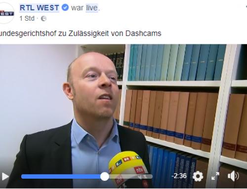 10.4.2018: RA Kempgens im RTL-Interview zum Thema Dash-Cam-Urteil des BGH